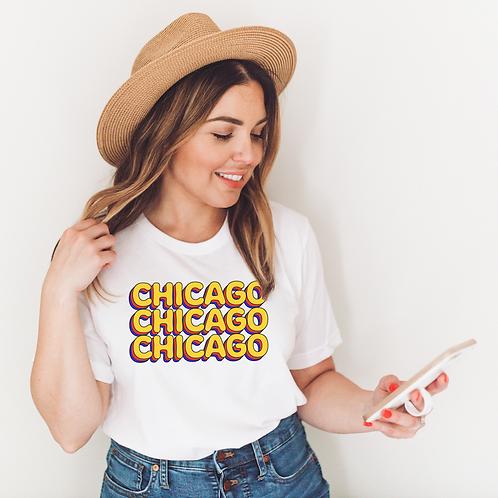 Chicago X3 Soft Short-Sleeve Unisex T-Shirt