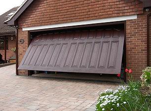 Dark Woodgrain One Piece GRP Garage Door