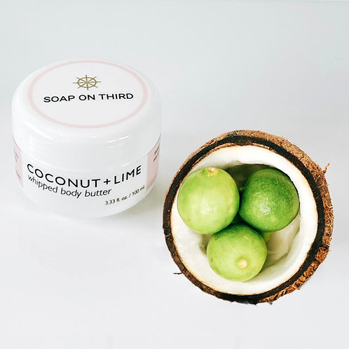 COCONUT + LIME WHIPPED BODY BUTTER