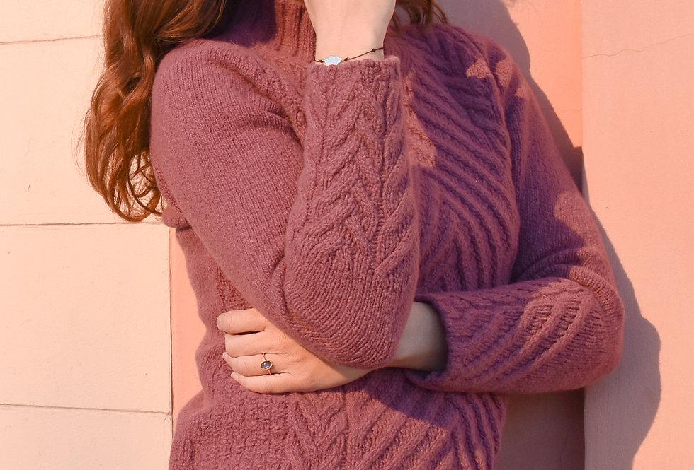 Le pull Maryse - Framboise - Laine et cachemire - prune