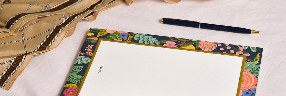 """Bloc notes - """"Fleurs et fruits"""""""