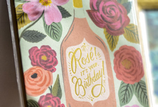 "Carte postale - ""Rosé ! It's your Birthday"""