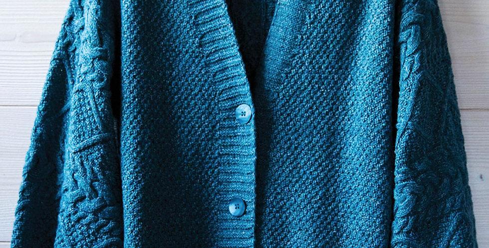 Le cardigan Lynn - Laine, coton, cachemire et soie - aquamarine