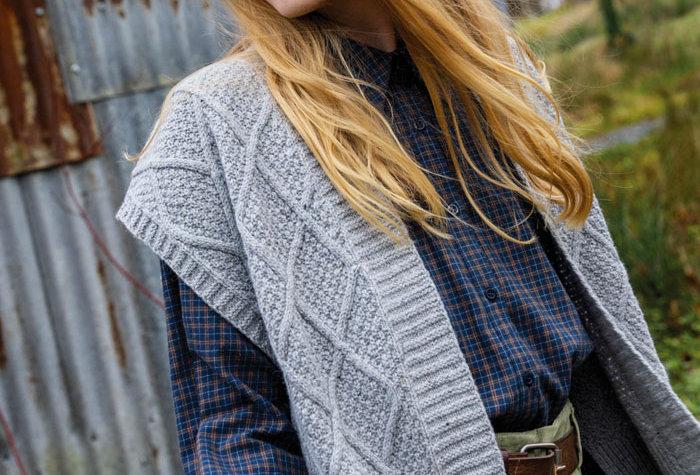 Le gilet Sophie - Laine, coton, cachemire et soie - gris
