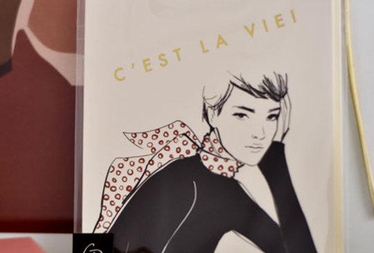 """Carte postale Garance Doré - """"C'est la vie"""""""