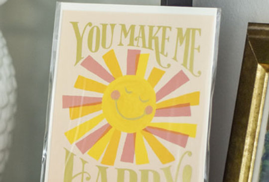 "Carte postale - ""You make me happy"""