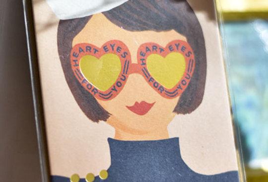 "Carte postale - ""Heart eyes for you"""