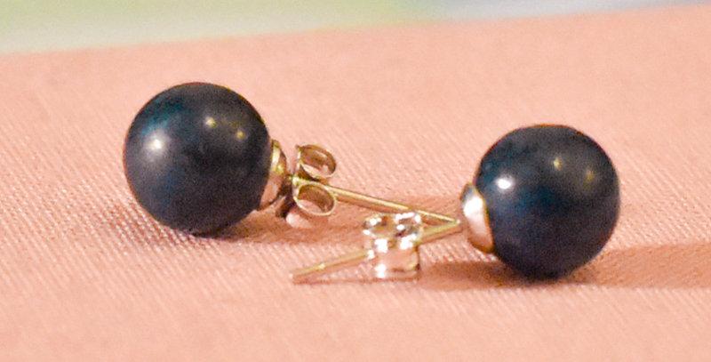 Boucles d'oreilles Athéna - Lapis Lazuli