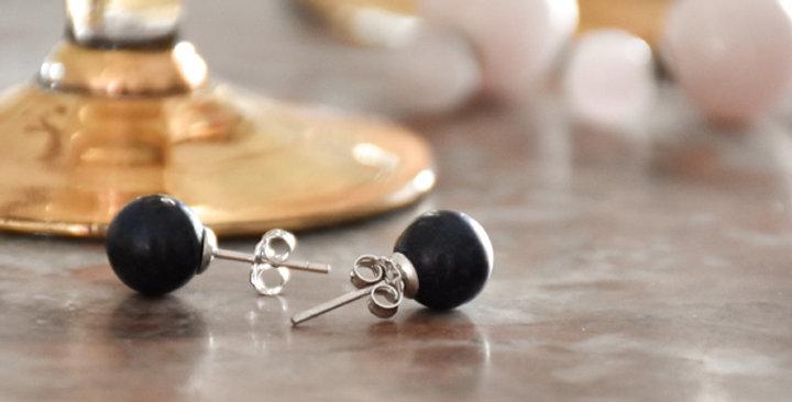 Boucles d'oreilles pierre naturelle Onyx