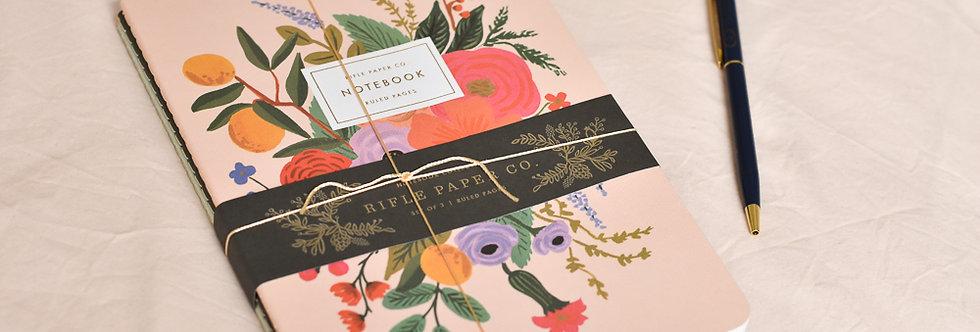 """Trio de carnets """"Bouquets de fleurs"""""""