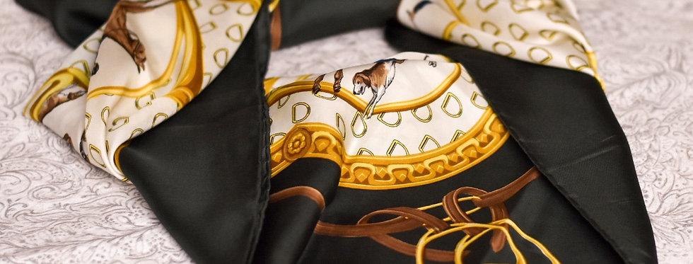 Foulard vintage équitation - VOG - Grand format