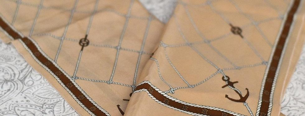 Foulard vintage en soie - Céline Paris