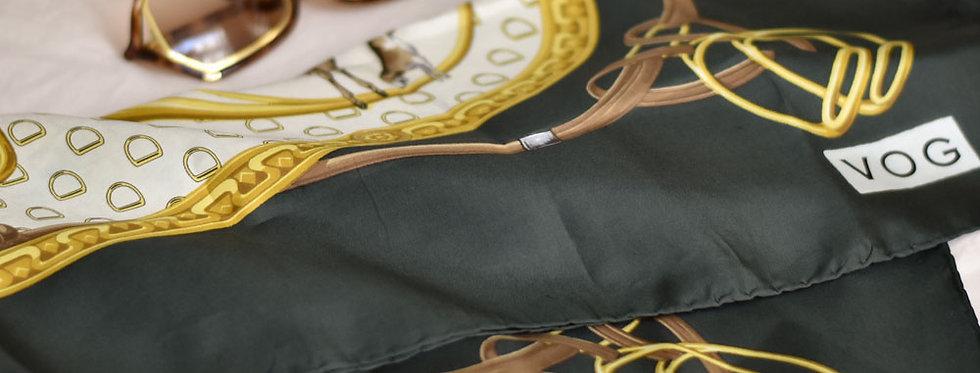 Foulard vintage équitation - VOG - Grand forma
