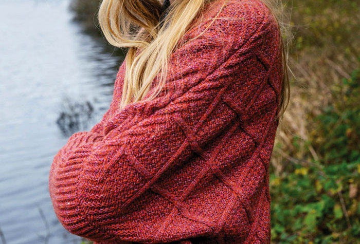 Le gilet Aude - Laine, coton, cachemire et soie - fraise