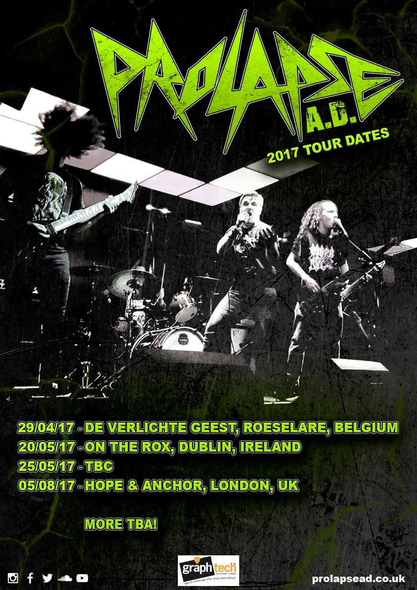 We are proud to announce that this April and May we will be spreading our very silly brand of excellent Thrash Metal to the EU ending with a London date because we couldn't leave our home fans out could we!