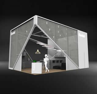 booth design_light beam