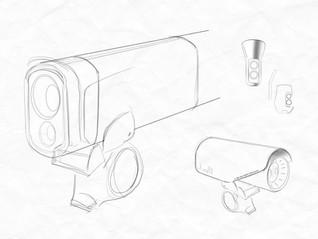 bike camera and light sketch