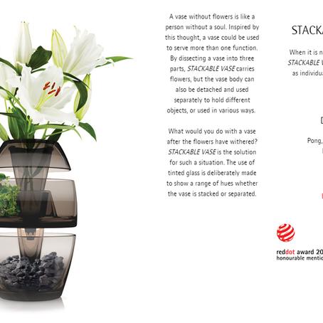 Stackable Vase @ Red Dot Award 2018