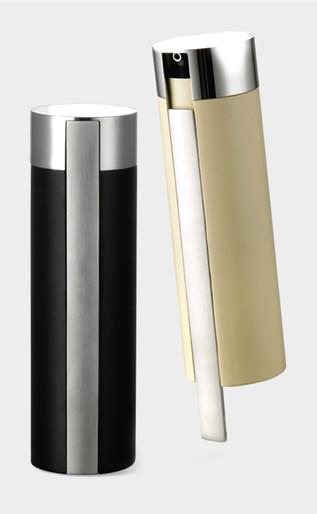 Gravity lock oil and vinegar dispenser