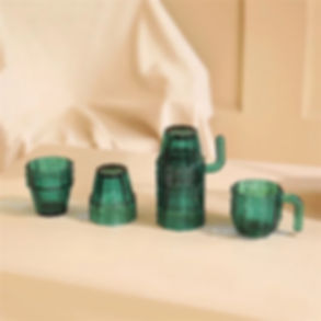 Cactus Stackable Glasses