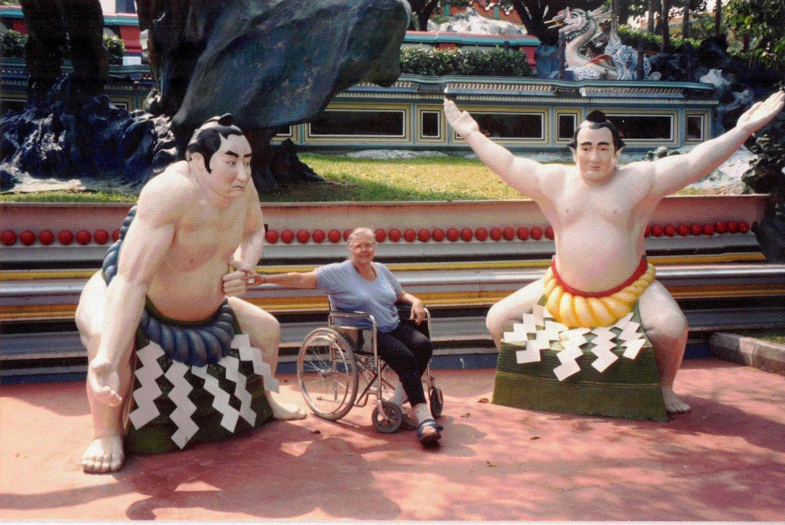 Anne Simpson at Haw Par Villa in Singapore