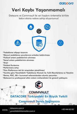 Datacore Türkiye'deki en büyük Commvault yetkili servis sağlayıcısı!