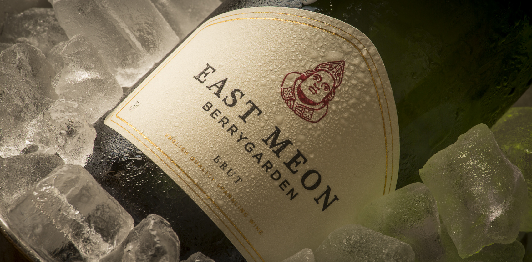 East Meon sparkling wine on ice
