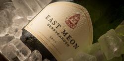 East Meon sparkling wine on ice