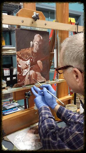 Charles David Alexander painting self portrait