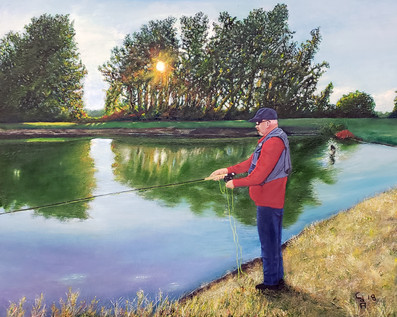 Dan Fishing at Sunset
