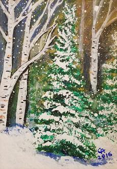 Evergreen Among Birch