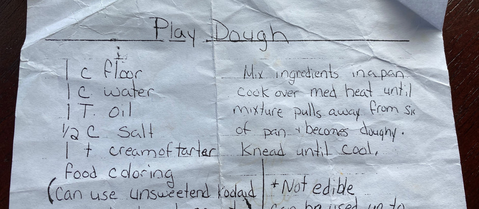 Easy Homemade Play Dough, from Ms. G.