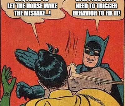 'Allow the Horse to Make the Mistake'