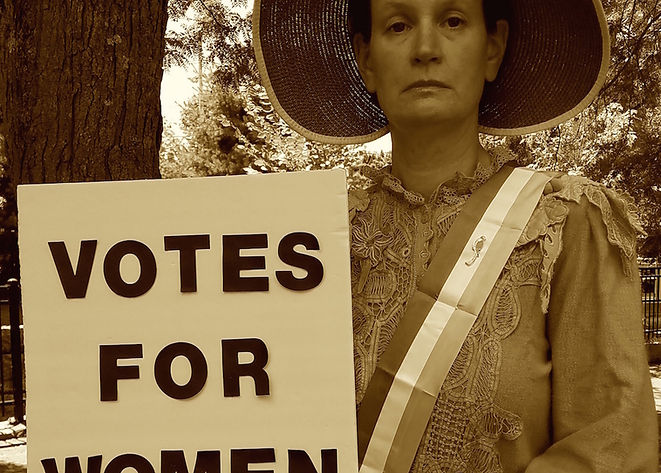 Suffrage Christine B & W smaller.jpg