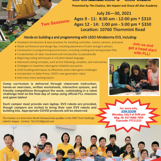 2021 Robotics Summer Camp (Afternoon Session)