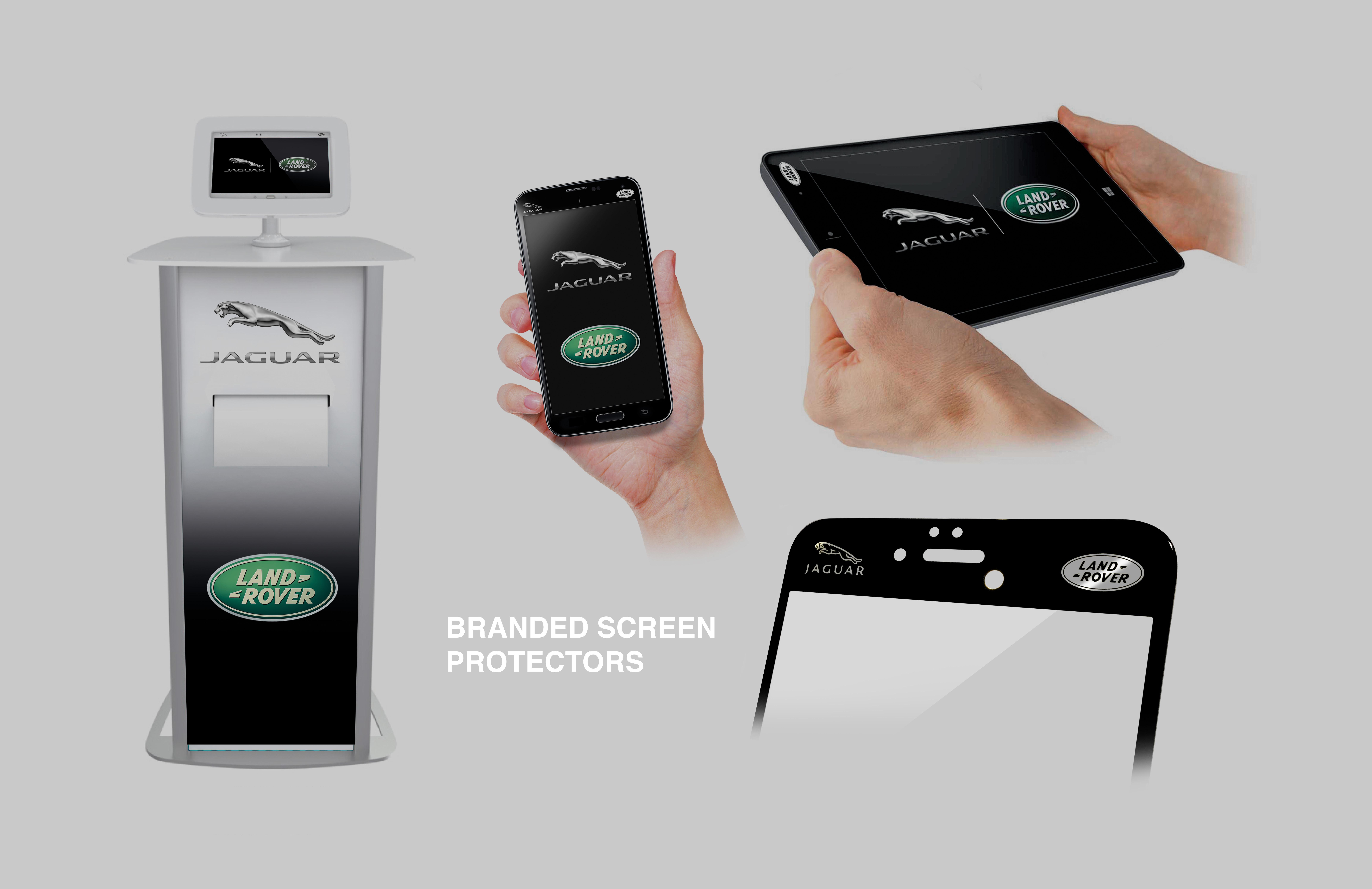 Jaguar protective glass display unit 4