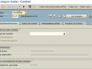 FI Creación de cuentas de mayor SAP (FS00)