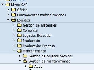 PM Cómo crear una orden de mantenimiento en SAP