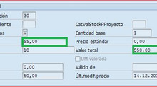 MM Cómo modificar precios de materiales con stock (MR21)