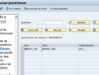 Construcción de Reportes en SAP (SQVI)