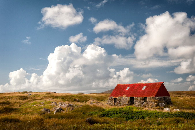 Red Roofed Dwelling South Uist