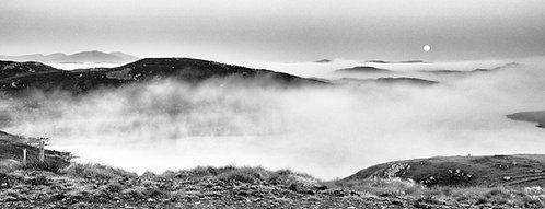 Doune Carloway Mist Panoramic BW