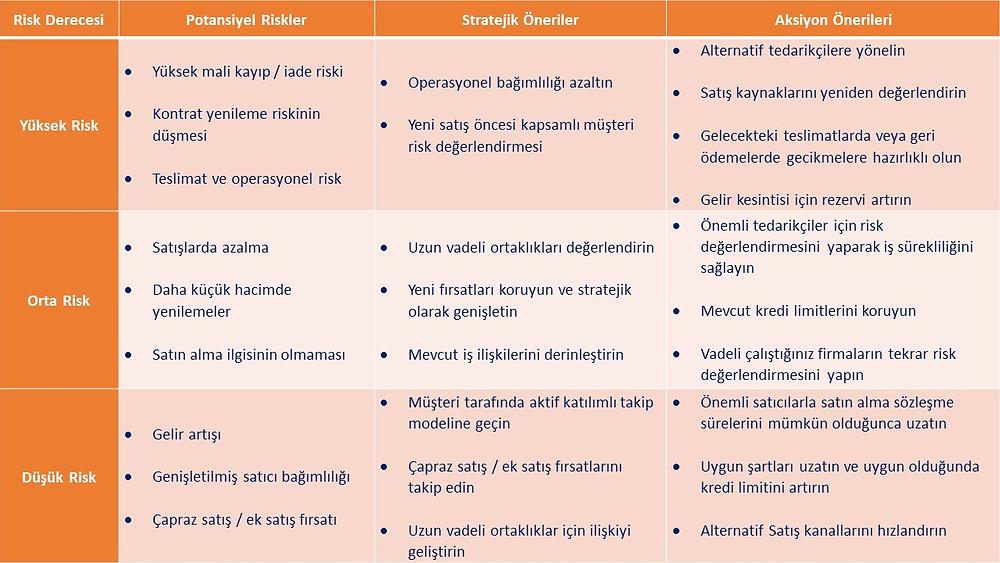 Covid-19'da potansiyel riskler, stratejik öneriler ve aksiyon önerileri