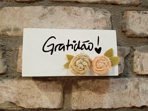 Quadro gratidão