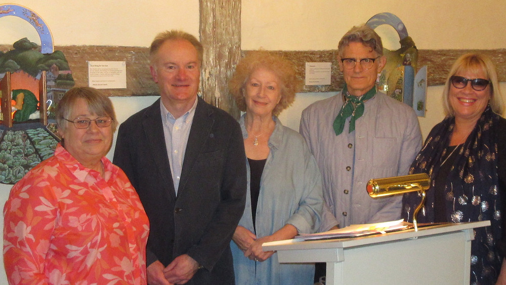 Actors Sue Kitson, Mark Williams, Ann Winslet with Adrian Brooks and Jan Harvey
