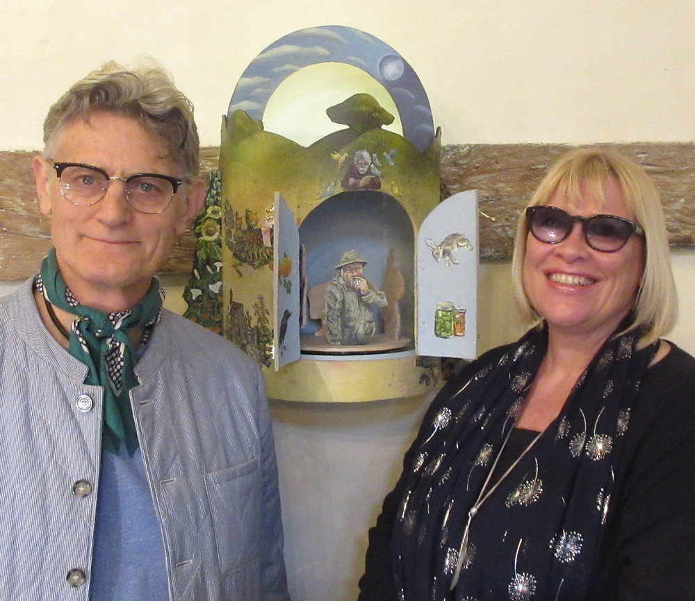 Adrian Brooks and Jan Harvey with the Allotment Theatre