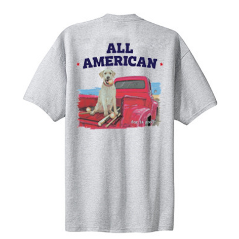 Dog Is Good T-Shirt (All American) Large Mens