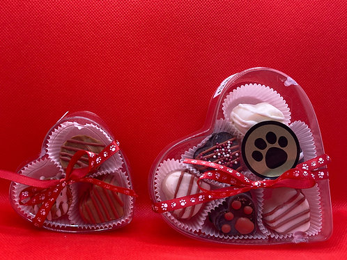 Doggy Valentines Day Truffles 6 pack