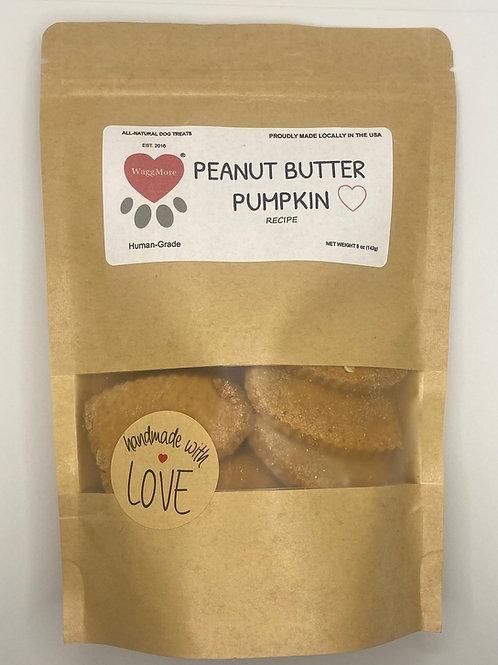 Peanut Butter Pumpkin WaggMore Treats (Gluten Free)