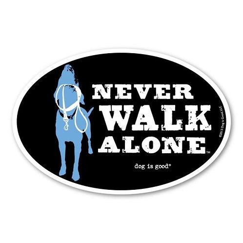 Dog is Good Car magnet (never walk alone)